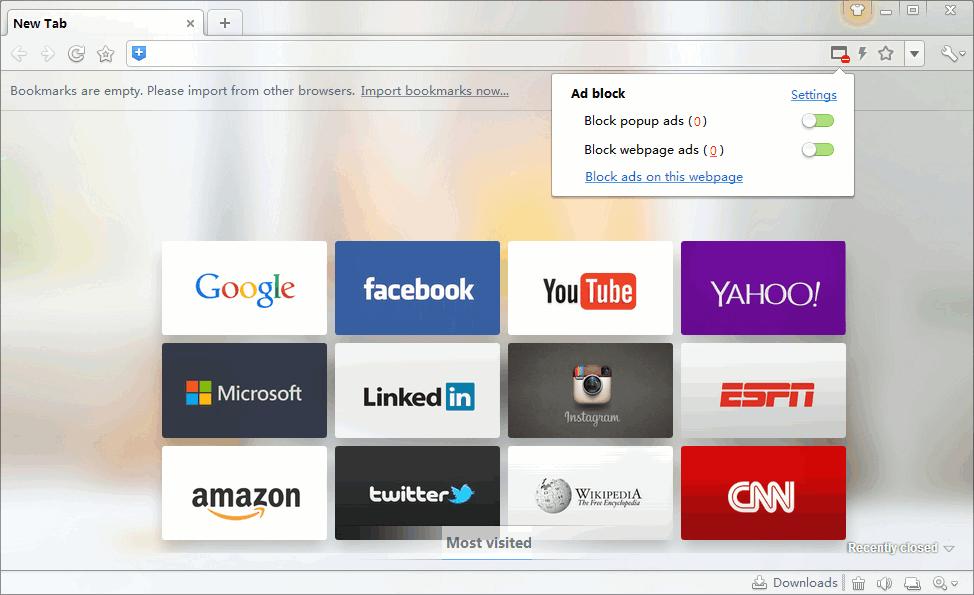 360 Browser - настройки блокирования