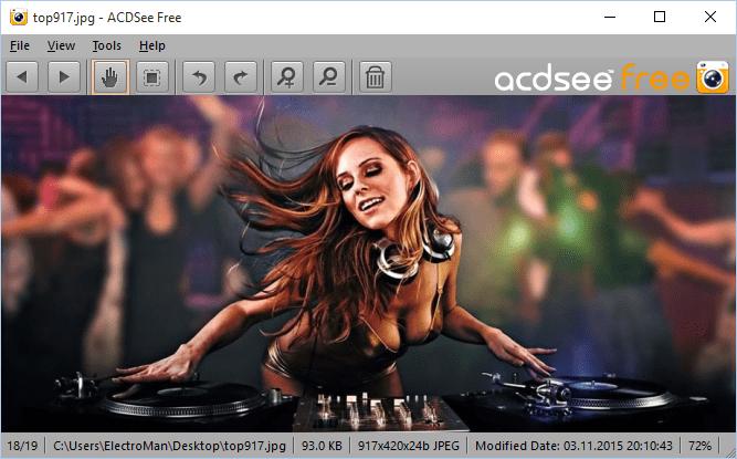 Скачать ACDSee - просмотр изображений в АйсидиСи
