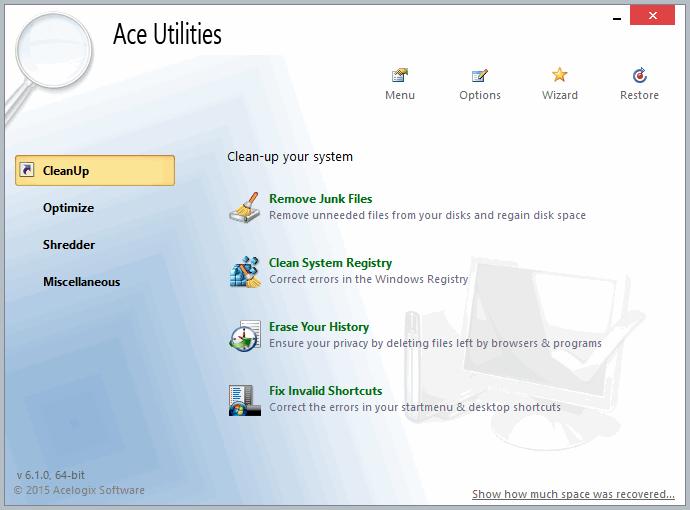 ACE Utilities - программа для оптимизации системы АСЕ Утилитес