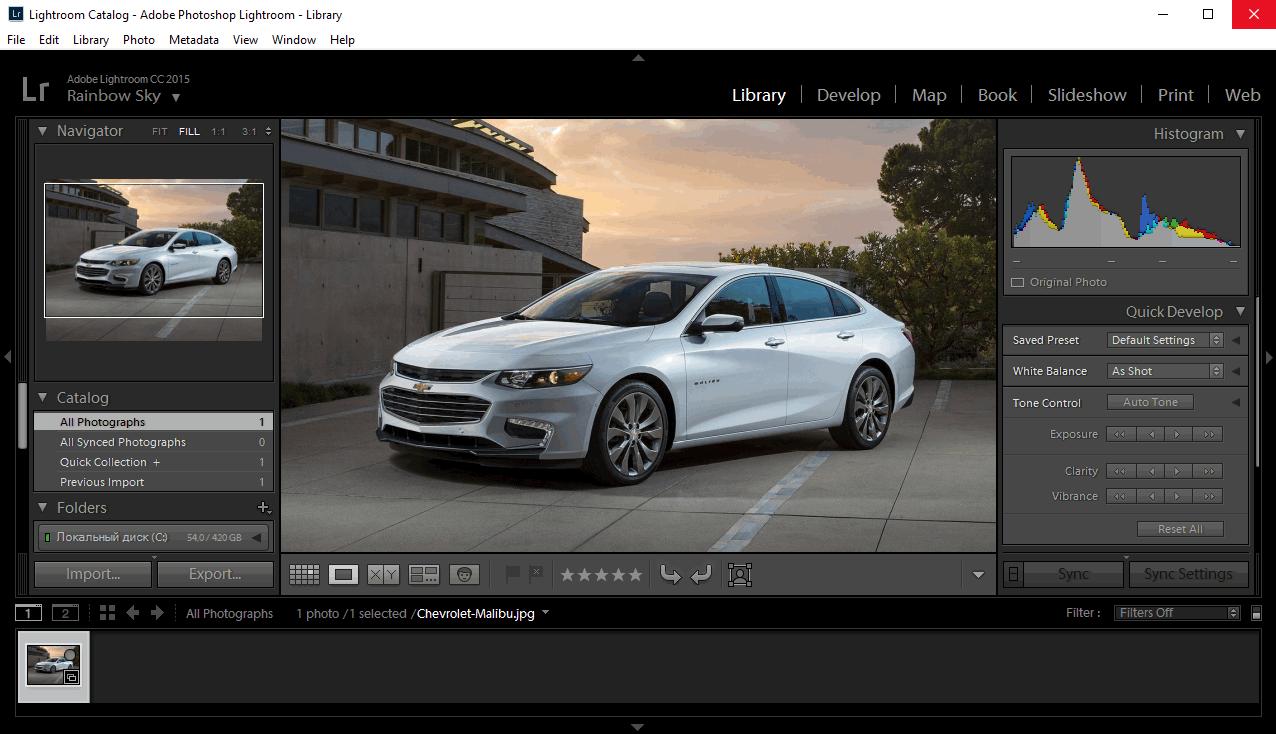 Adobe Photoshop Lightroom - редактирование фотографии