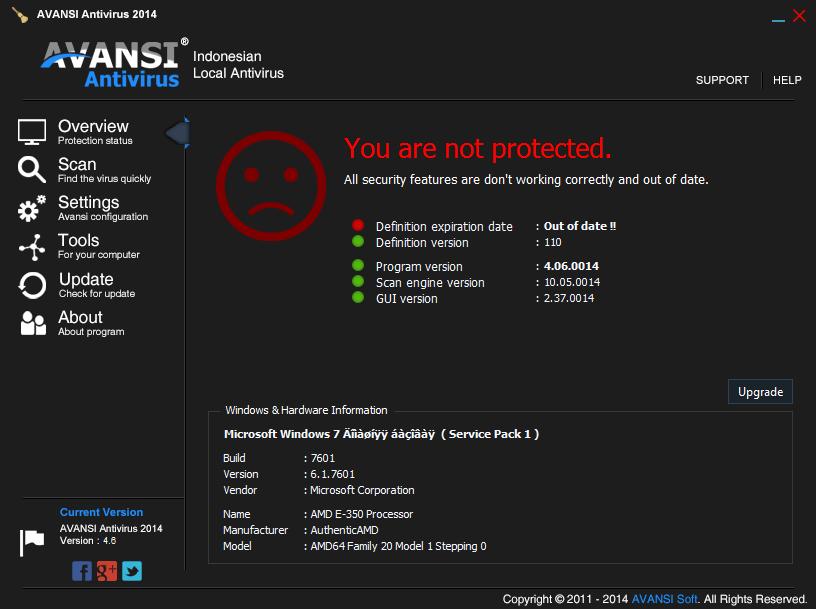AVANSI Antivirus - Аванси Антивирус