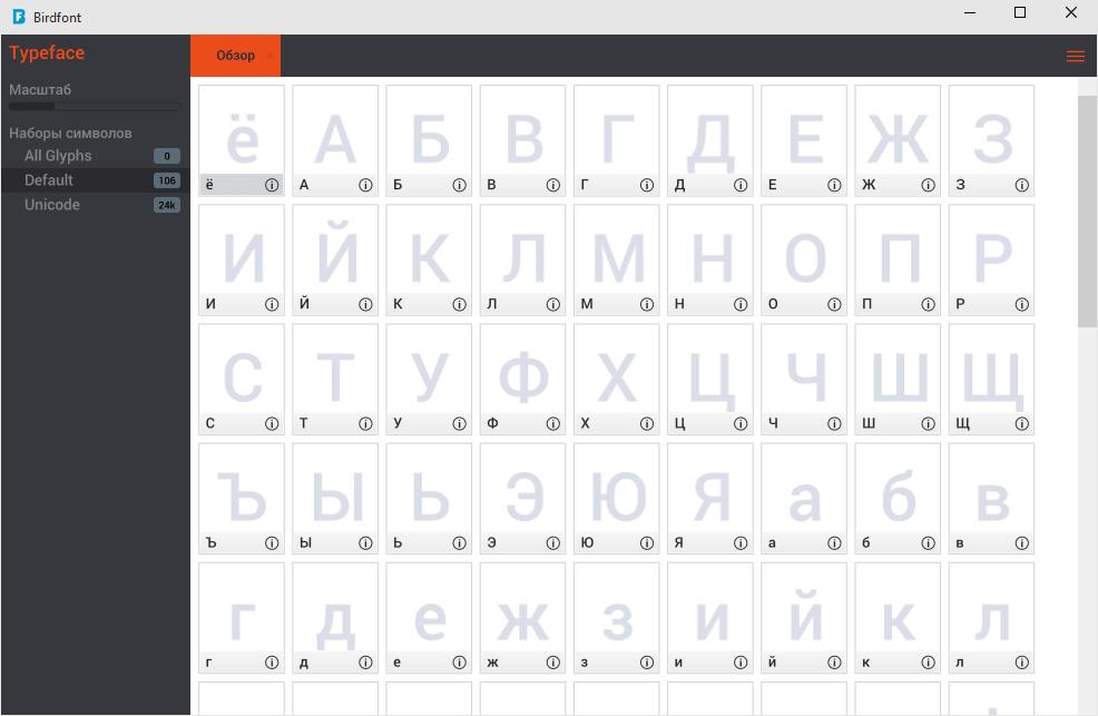Birdfont - программа для создания и редактирования шрифтов Бердфонт