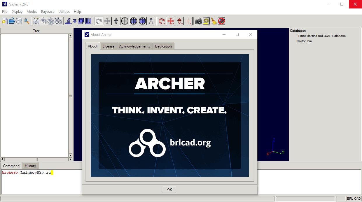 BRL-CAD Archer - система автоматизированного проектирования