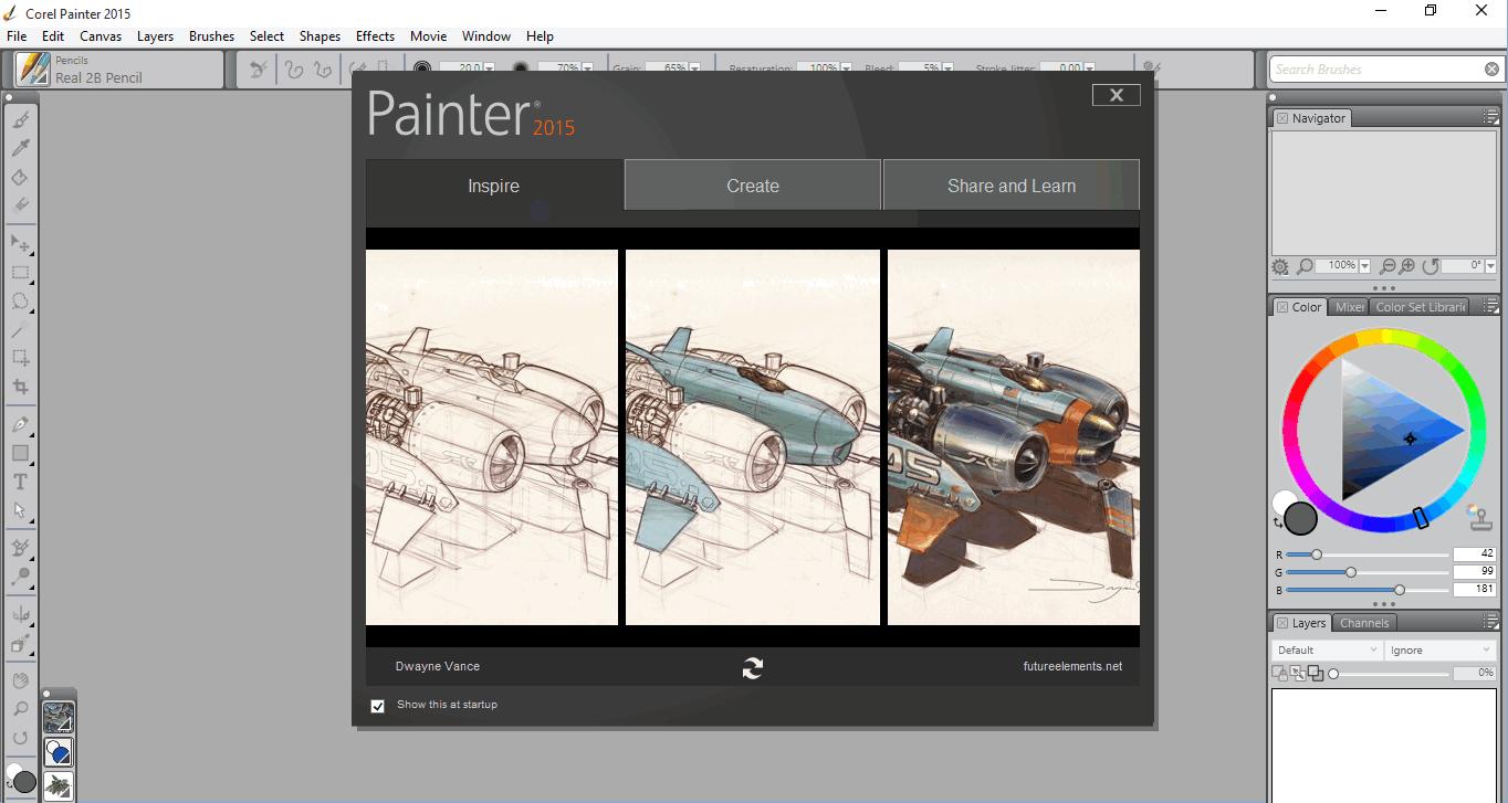 Скачать Corel Painter - графический редактор Корел Паинтер