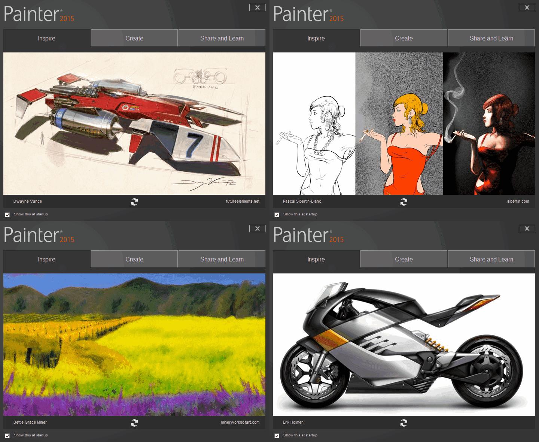 Корел Паинтер - работы выполненные при помощи редактора