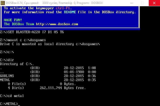 Запуск игр в DOSBox
