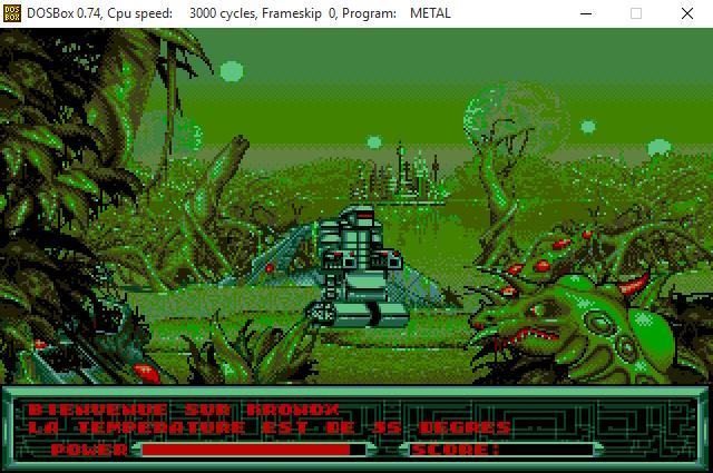 Игра Metal Mutant запущена в эмуляторе DOSBox