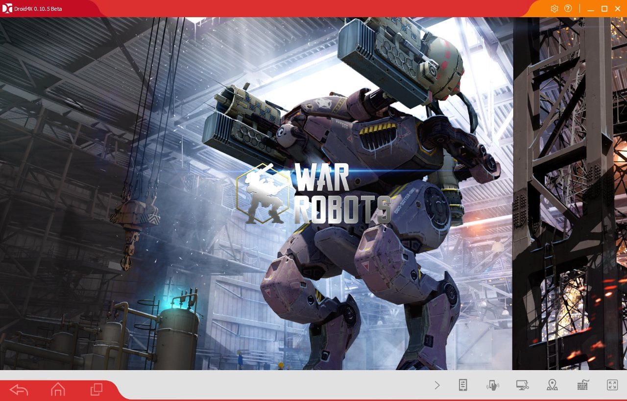 Игра запущенная на ПК в эмуляторе Android - Droid4X