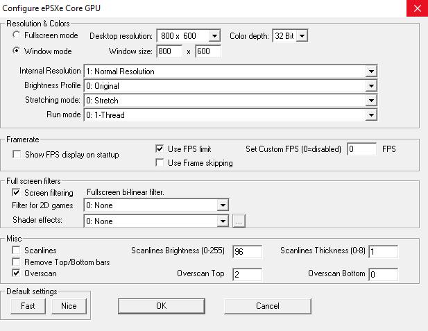 Настройка эмулятора PSX - ePSXe