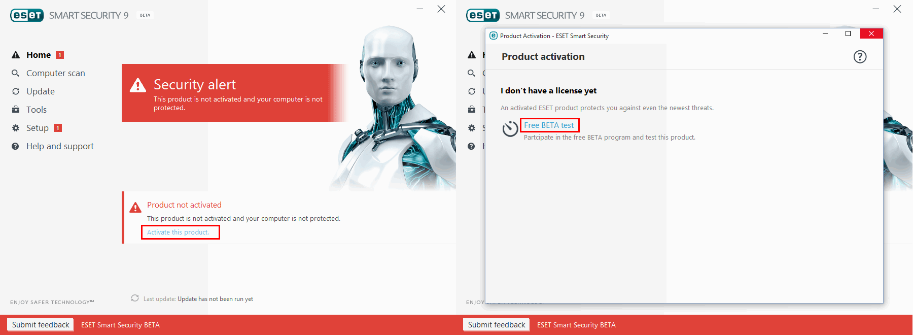 Бесплатная активация ESET Smart Security 9