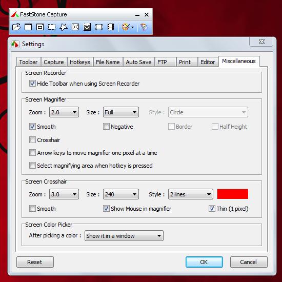 FastStone Capture - программа для захвата экрана