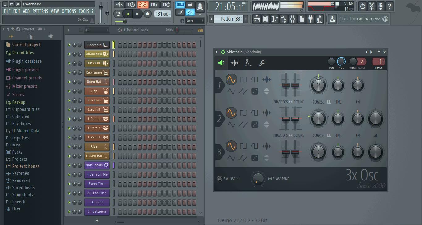 Интерфейс Fruity Loops Studio