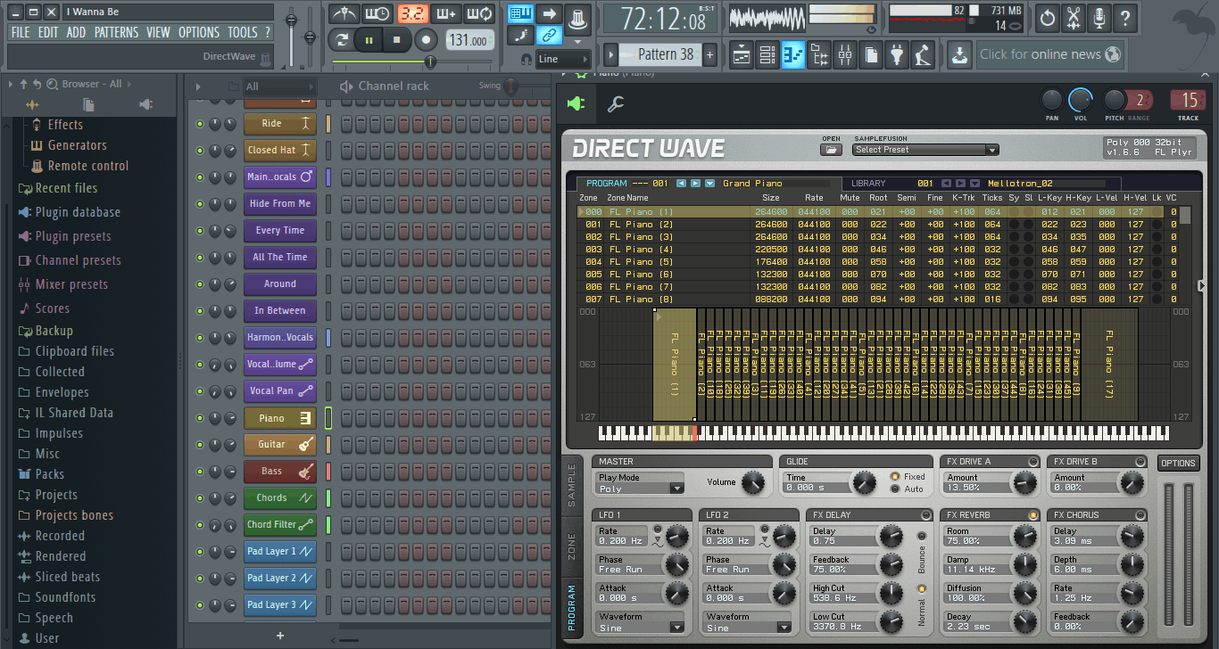 FL Studio - программа для создания музыки Fruity Loops Studio