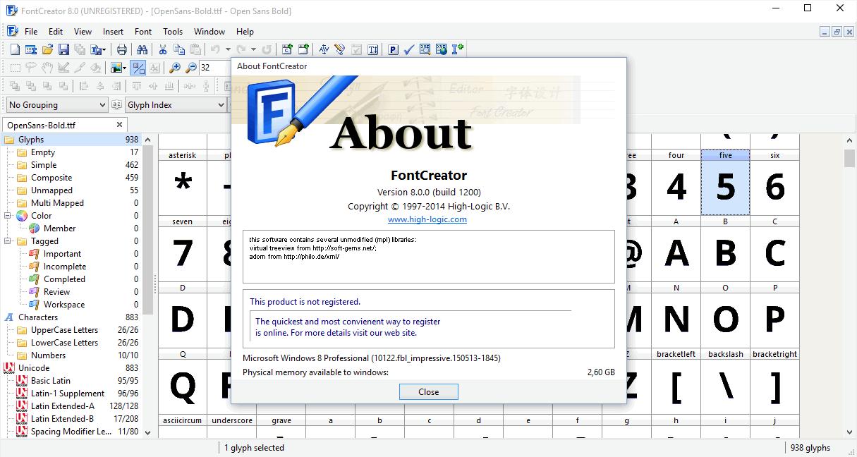 FontCreator - программа для создания шрифтов Фонт Креатор