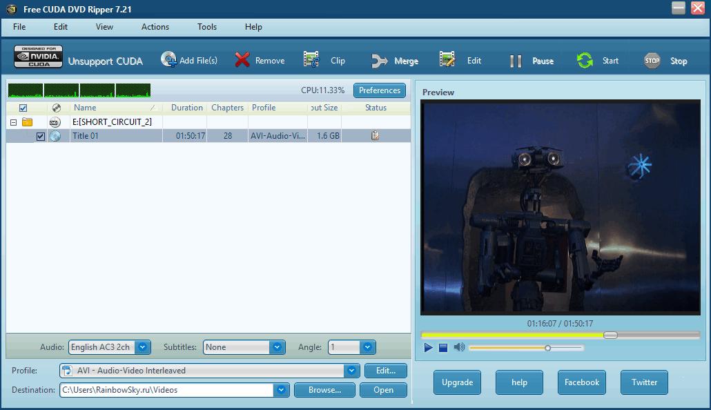 Free CUDA DVD Ripper - Фри КУДА ДВД Риппер