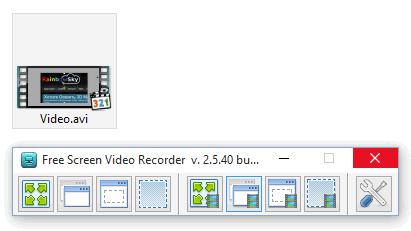 Сохраненный видеофайл в Фри Скрин Видео Рекордер