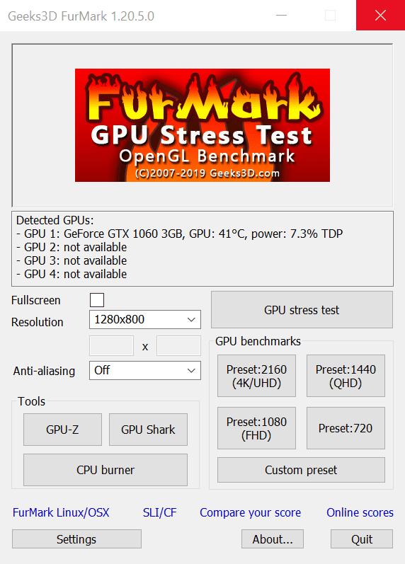 FurMark - тест видеокарты