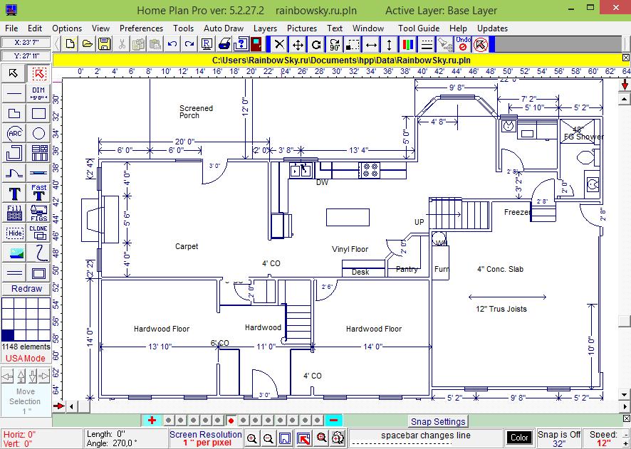 Home Plan Pro - программа для проектирования помещений Хом План Про