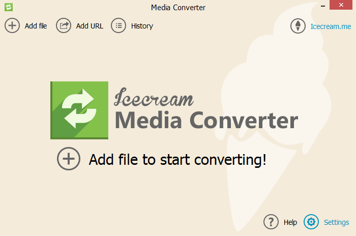 "Icecream Media Converter - Меню ""Settings"""