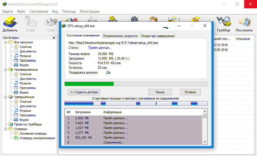 Internet Download Manager - скачать IDM