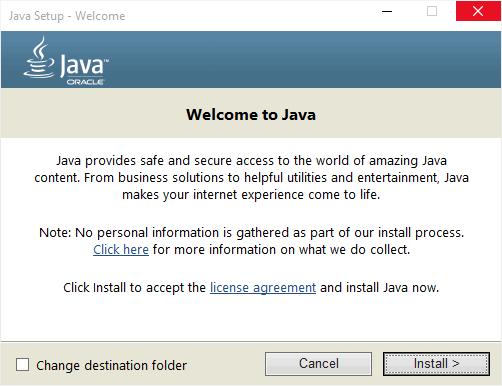 Java - программа установки Джава