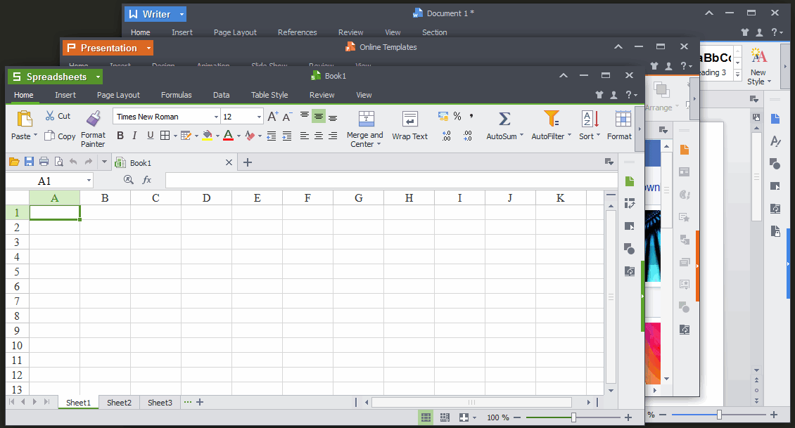 Kingsoft Office - приложение Kingsoft Spreadsheets