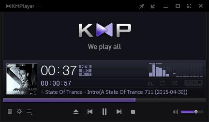 KMPlayer в режиме аудиопроигрывателя