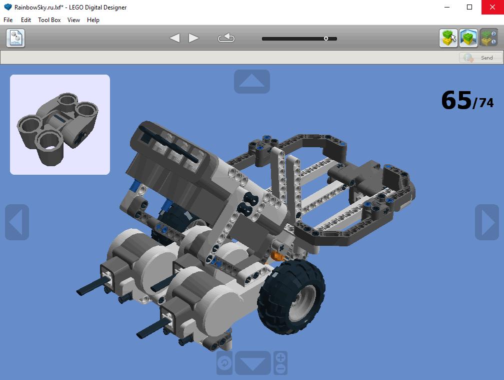 LEGO - последовательность сборки конструкции