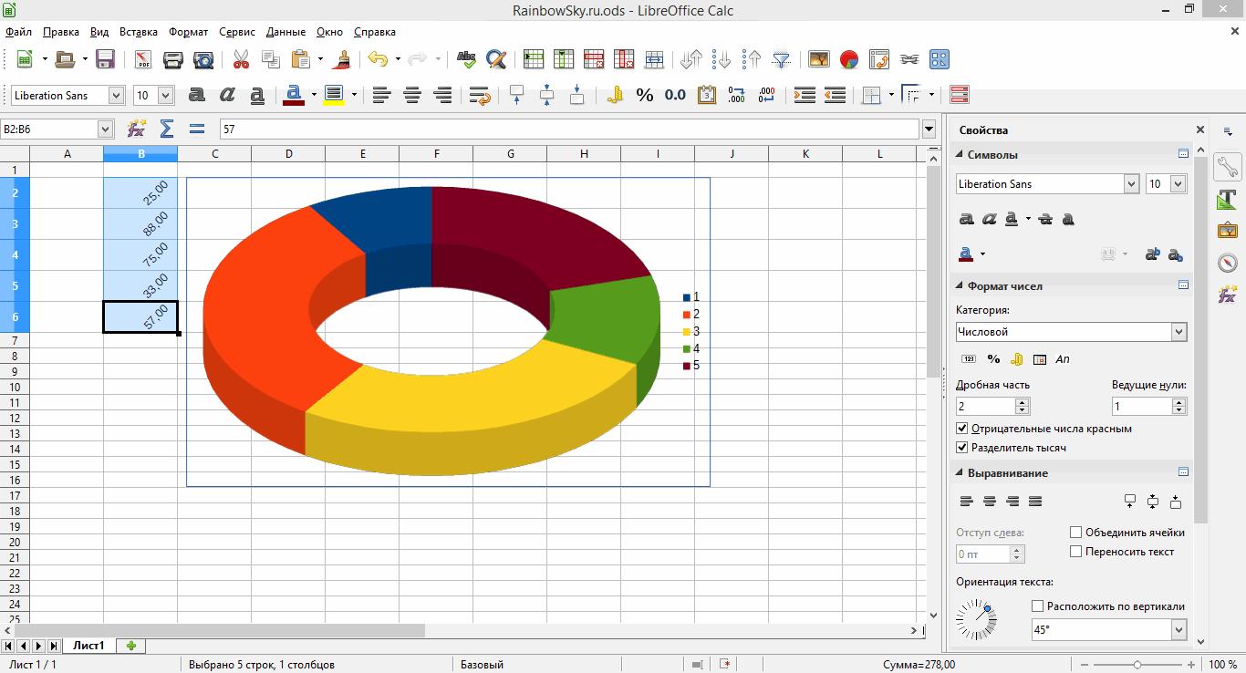 LibreOffice Calc - редактор электронных таблиц (аналог Excel)