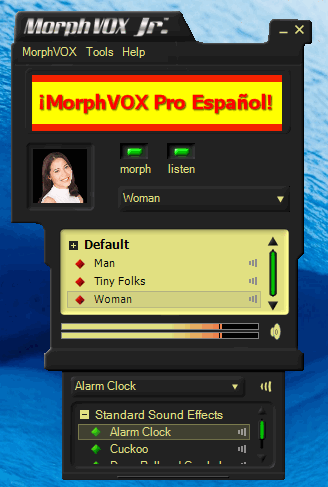 Программа MorphVOX Junior