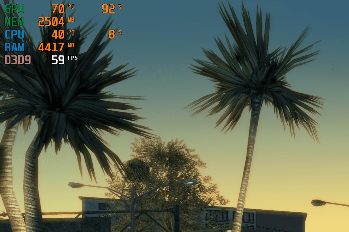MSI Afterburner - мониторинг в игре