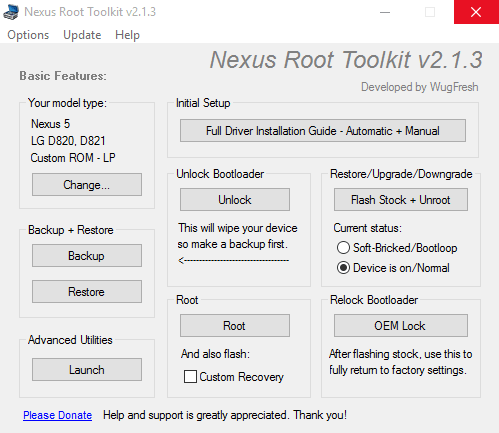 Nexus Root Toolkit - получение root-прав Нексус Рут Тулкит