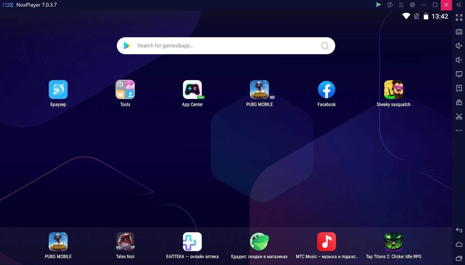 NOX App Player - настройки эмулятора
