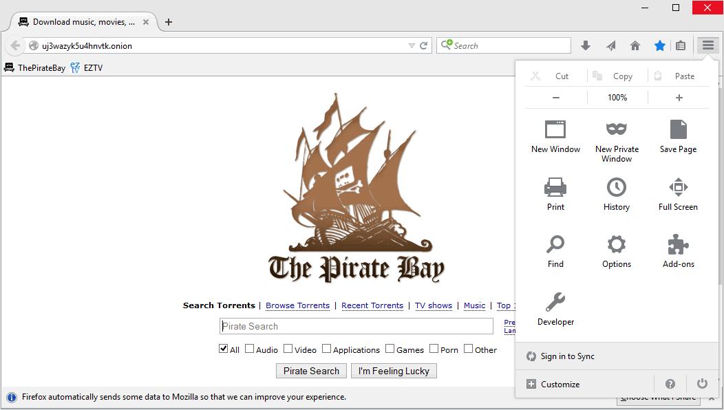 PirateBrowser - пиратский браузер без цензуры