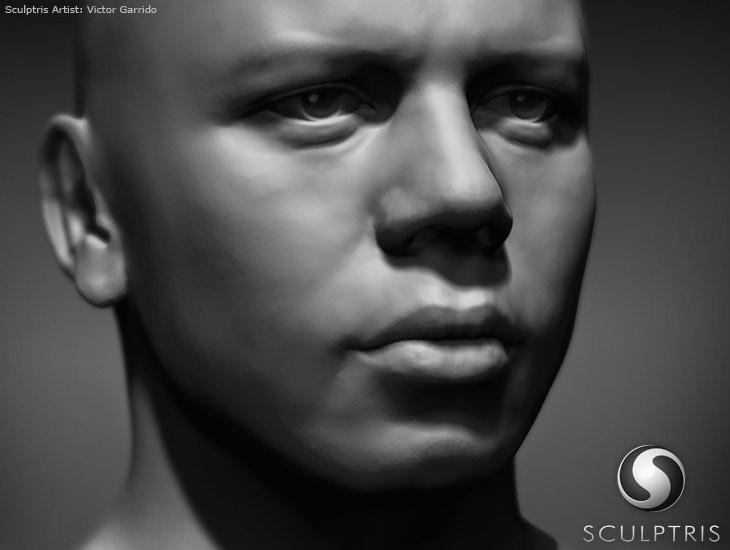 Персонаж созданный при помощи 3D редактора Скульптрис