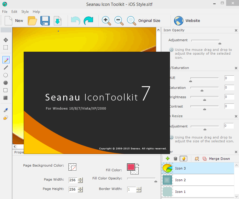 Seanau Icon Toolkit - редактор иконок Синау Икон Тулкит