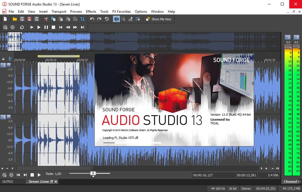 Sound Forge Pro - профессиональный аудио редактор