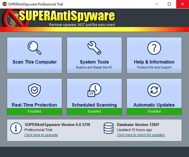 SUPERAntiSpyware - СУПЕРАнтиСпайваре