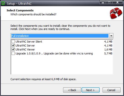 UltraVNC - установка программы