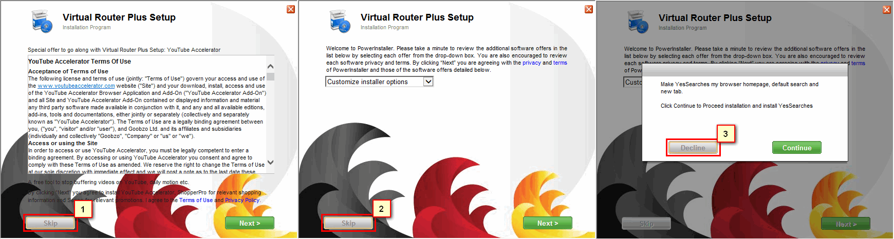 Установка Virtual Router Plus