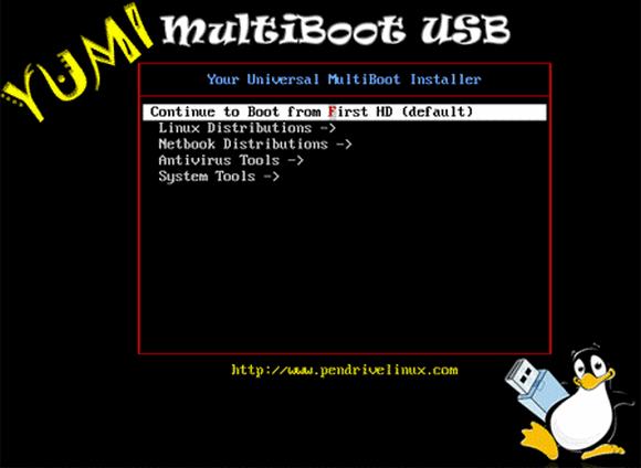 YUMI - программа для создания мультизагрузочной флешки