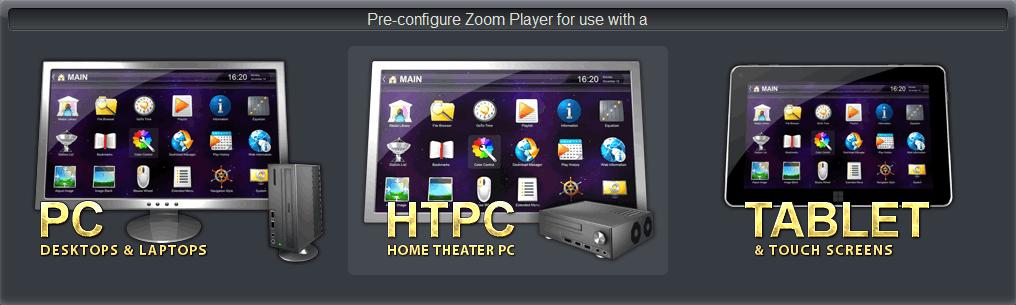 Zoom Player - выбор режима проигрывателя